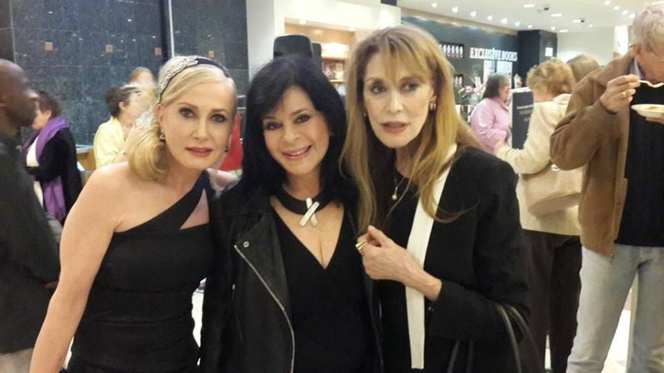 Jani Allan with  Peta Eggierth-Symes  and Dr Dorianne Cara Weil in Johannesburg, April 2016.